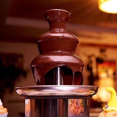 Chocolate fountain for halloween parties.